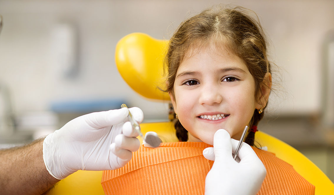 Girl gettting cleaning - Pediatric Dentist in Colleyville, TX